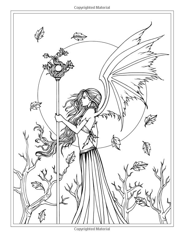 fantasy realistic fairy coloring pages - photo#41
