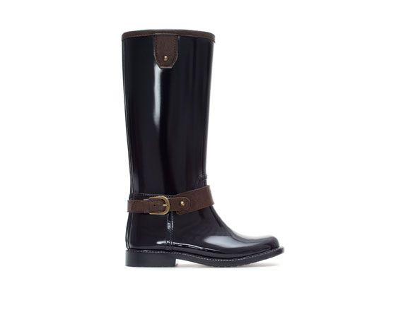 Image 1 of SYNTHETIC PATENT LEATHER WELLIES from Zara
