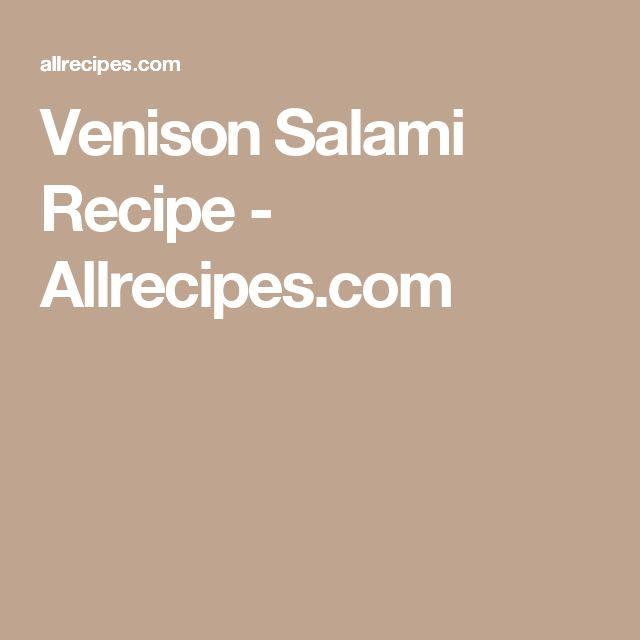 Venison Salami Recipe - Allrecipes.com