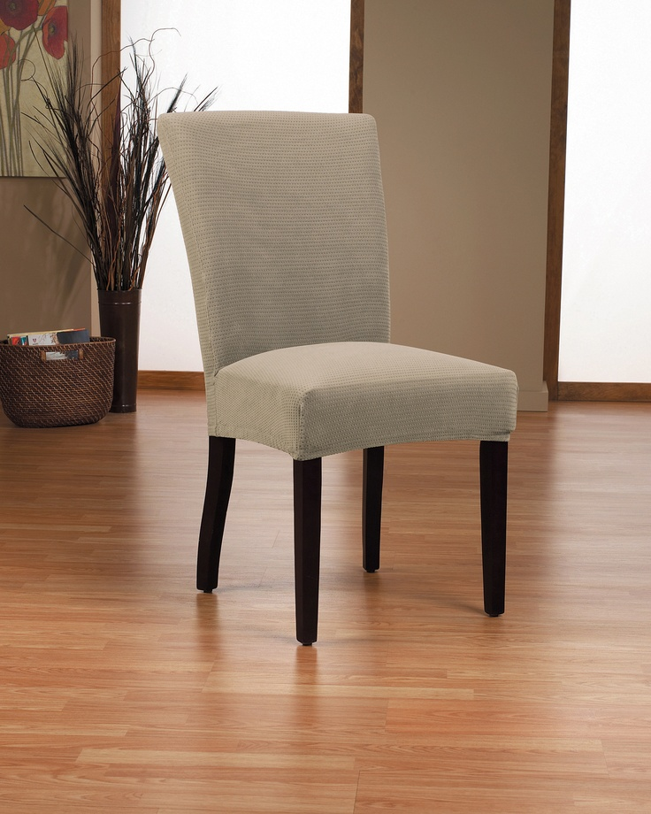 Dimples mink dining chair slipcover dimple embossed