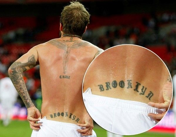 There's david beckham tattoos jesus dare once