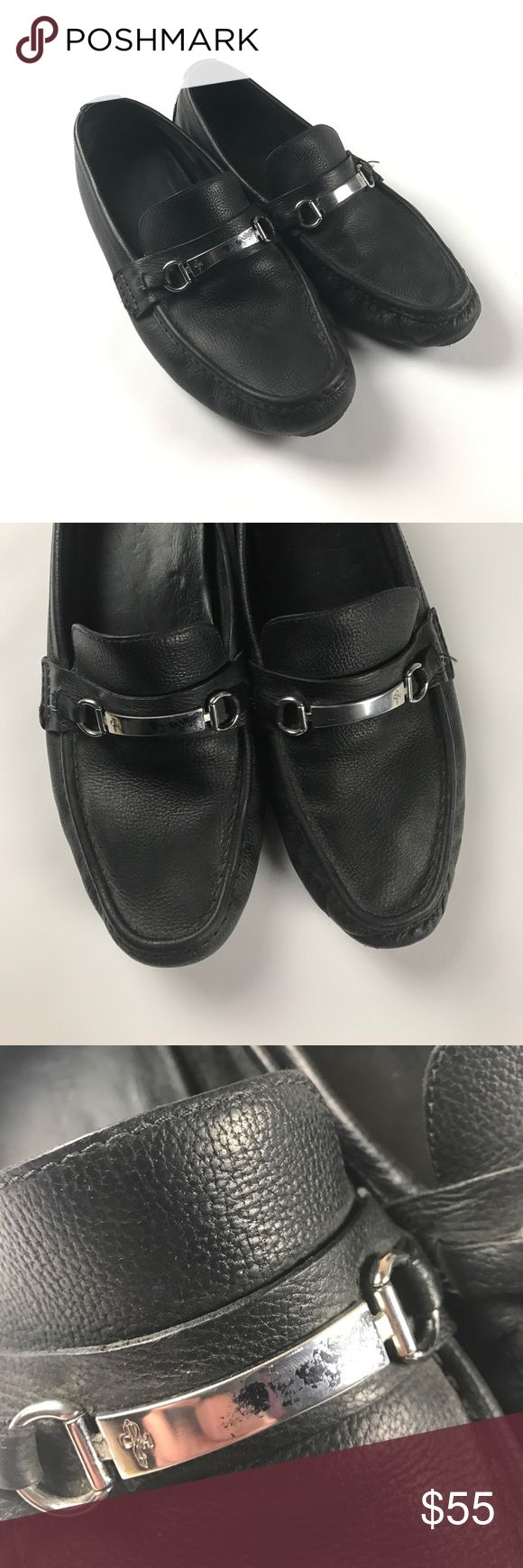 Men's Cole Haan 13 Casual Leather Driving Loafers Some scuffs on the metal bar on the right shoe Cole Haan Shoes Loafers & Slip-Ons