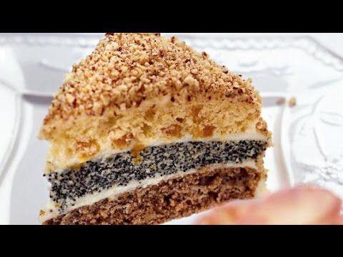 Торт Лакомый кусочек. Дамский каприз. Торт с тремя разными коржами.