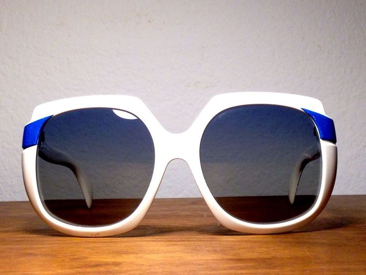 Vintage Cool-Ray Polaroid 1970's  White w/ Royal Blue Women's Sunglasses #244 #CoolRay #244 #SummerBeach  ~SOLD~
