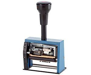 Numerador con fechador automático Reiner DN65A con placa de texto personalizable http://www.asturalba.com/oficina/sellos/sellos.htm