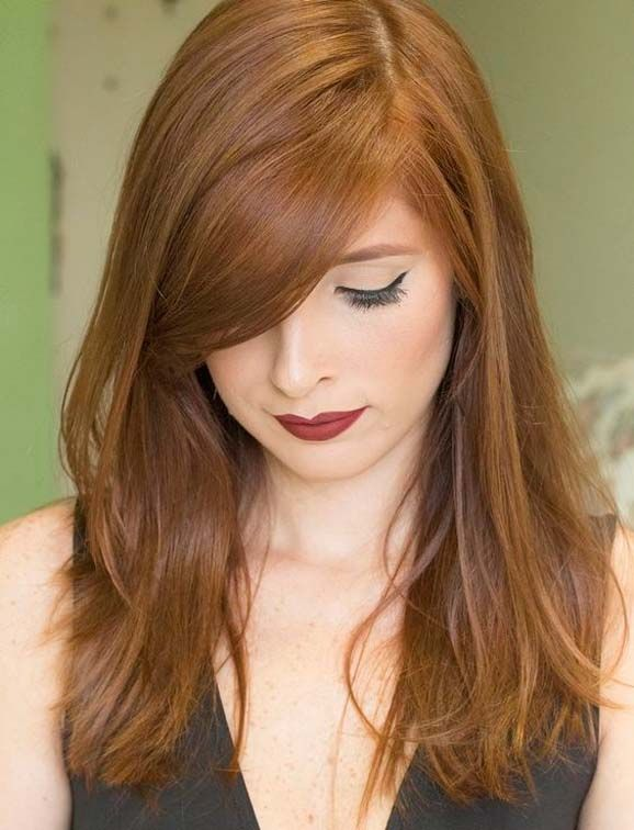 Golden blonde and light copper Hair Style