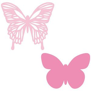 Silhouette Design Store - View Design #171574: double butterfly