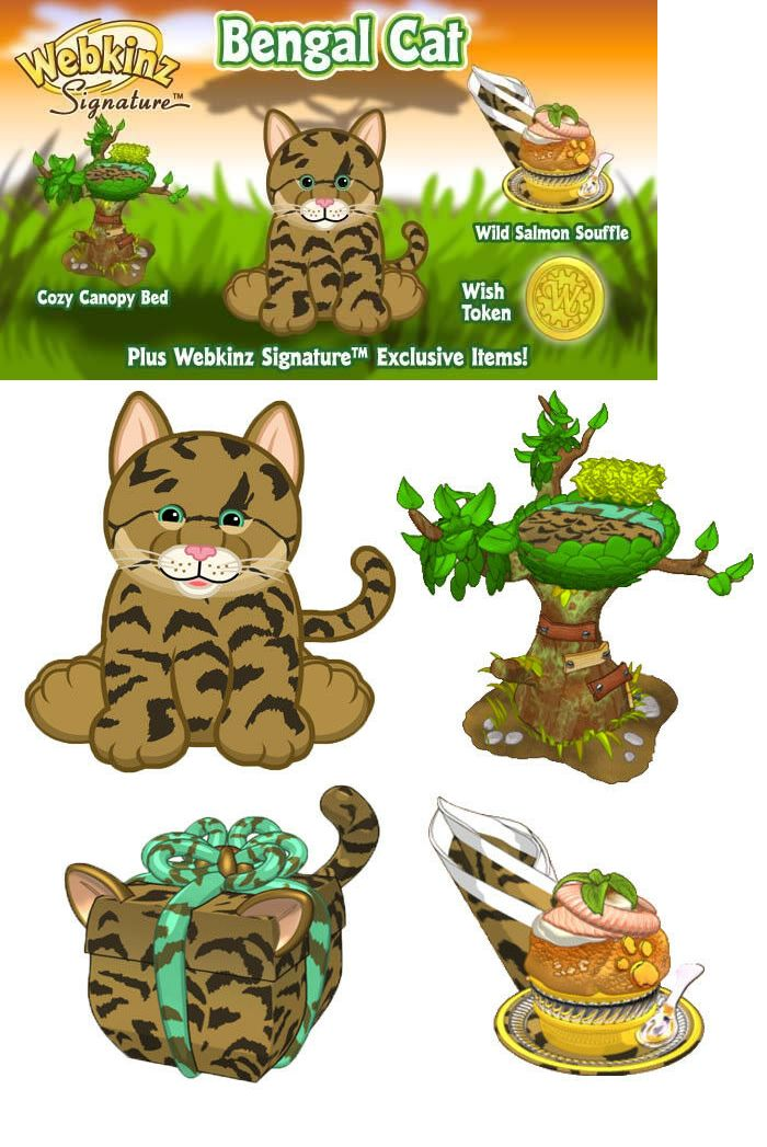 Other Webkinz And Lilkinz 158772 Webkinz Signature Bengal Cat Wks1065 Virtual Pet Code Buy It Now Only 30 On Ebay Other W Bengal Cat Webkinz Cat Plush