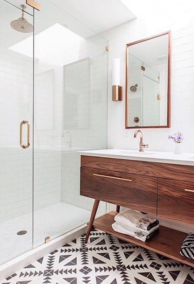 Midcentury Meets Contemporary In This Stunning Bathroom Timeless
