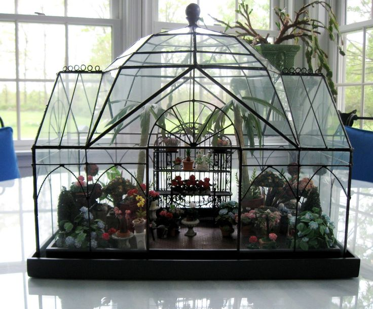Mini conservatory by smith and hawken terrarium miniature for How to make a small indoor greenhouse