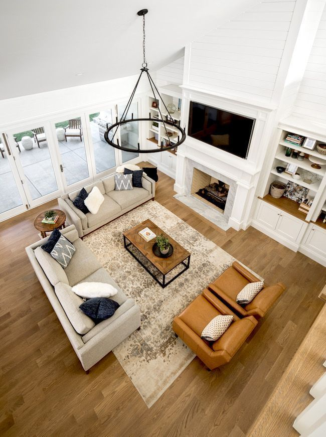 A sunken living room is a cozy space in a home that is designed with open floor concept.