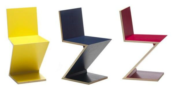 Стул 280 Zig Zag фабрики Cassina, дизайн Rietveld Gerrit Thomas.