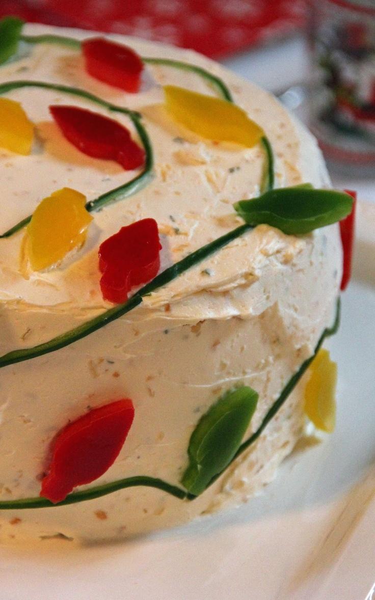 Christmas Brunch Smorgastarta - festive sandwich cake!