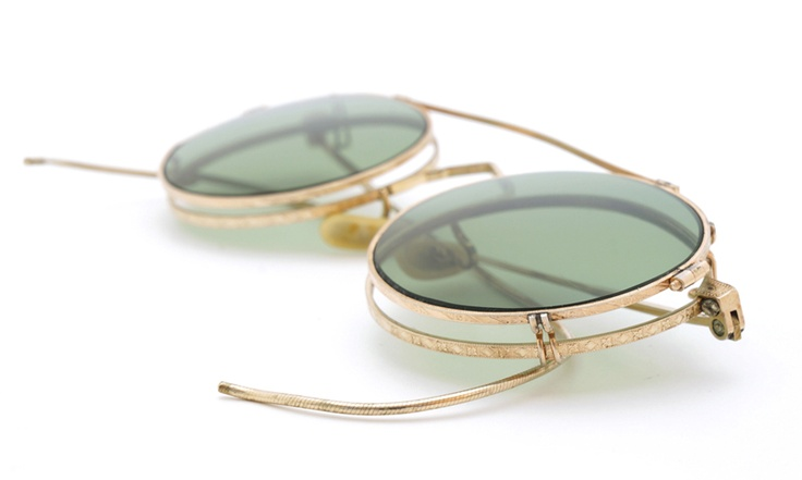 American optical ヴィンテージ メガネ[1930's Mershwood Gold Round with Clipon] | PON MEGANE | JAPAN