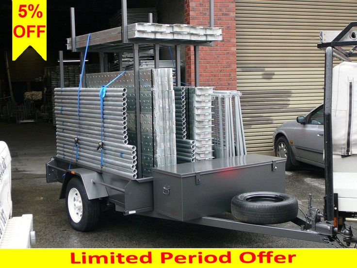 Aluminium Scaffolding, Scaffold Trailer Pack 10.8m Long Up To 6.5m Access Height