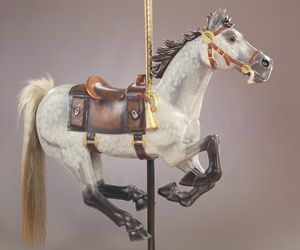 Meet the Ponies - Carousel for MissoulaCarousel for Missoula Pony Express horse carved by volunteers