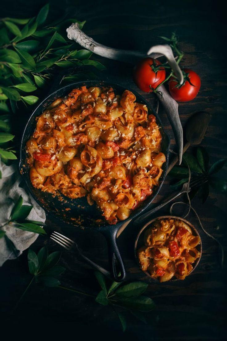 Ψητά μακαρόνια με σάλτσα ντομάτας, τυριά και ψωμί - Marymary Cook
