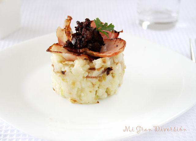 """El """"trinxat"""" es un plato típico de la Cerdanya, que se hace a base de patata hervida y col, pero tenía una coliflor que me habían traíd..."""