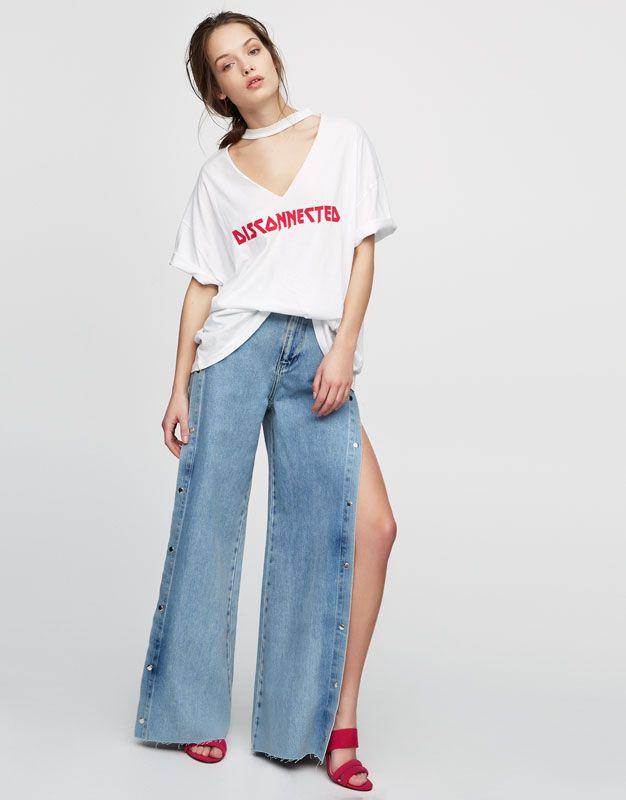 Jeans relaxed fit cu deschideri laterale - #pullandbearcommunity - Editorials - Bărbați - PULL&BEAR România