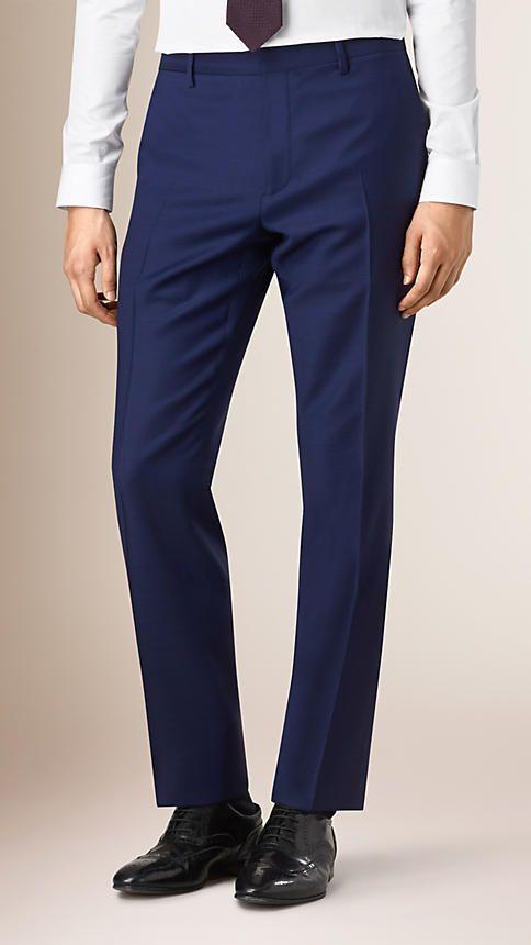 Azul-marinho intenso Terno de lã virgem Travel Tailoring com corte moderno Azul-marinho Intenso - Imagem 6
