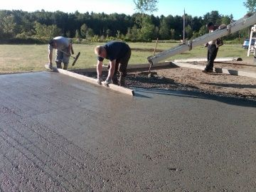 How to pour a concrete slab - why yes, I do have THRILLING plans for my tax returns...