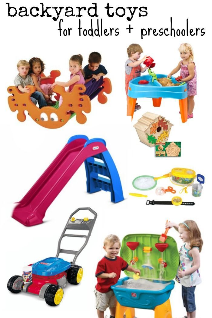 Backyard Toys For Toddlers & Preschoolers