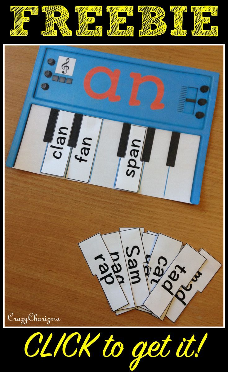 *Freebie* Word Families Pianos contains Pianos Word Families intended for use with children in Kindergarten (Prep) and Grade 1. Build you own piano! Click to download your freebie! #crazycharizma