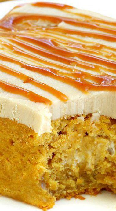Pumpkin Poke Cake Recipe