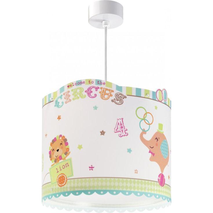 Παιδικό φωτιστικό circus οροφής με λευκή ροζέτα & κίτ ανάρτησης
