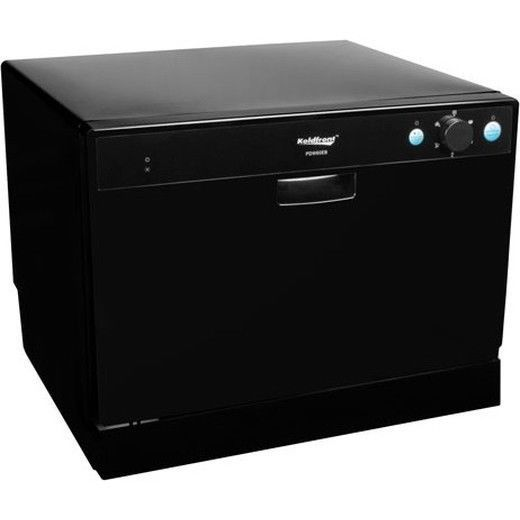 Portable Countertop Dishwasher, Black Compact Tabletop Mini Dish Washer Machine #Koldfront