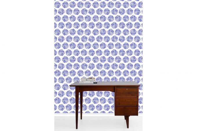 Geraniums Wallpaper  by Design Kist on hellopretty.co.za