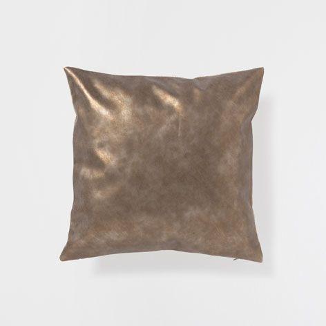 GOLDEN METALLIC CUSHION - Decorative Pillows - Decor and pillows | Zara Home United States