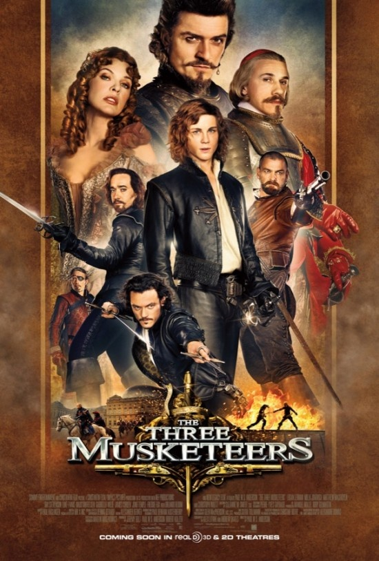Les Trois Mousquetaires / The Three Musketeers (2011) : Logan Lerman, Milla Jovovich, Matthew Macfadyen, Ray Stevenson, Mads Mikkelsen, Luke Evans, Orlando Bloom