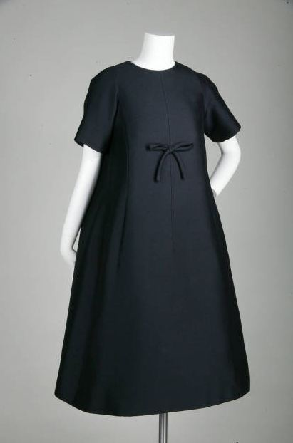 """Trapèze Afternoon Dress, Yves Saint Laurent for Christian Dior, Paris, France: 1958, mohair. """"This dress is from Yves Saint Laurent's historic first collection for the House of Christian Dior in 1958. Trapèze was introduced with this collection."""""""