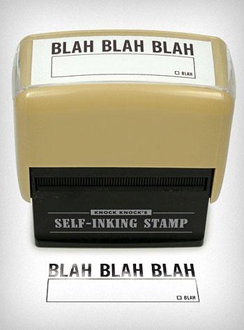 Blah Blah Blah Self Inking Stamp