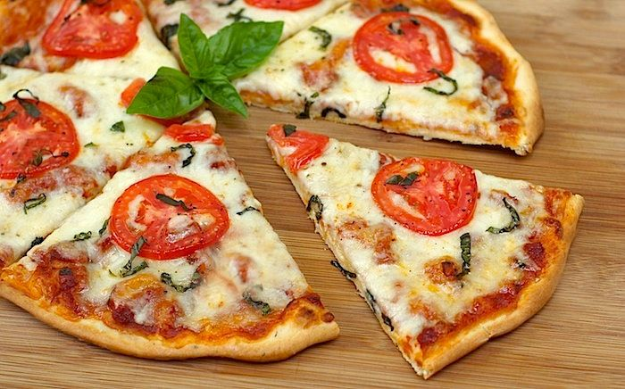 homemade thin crust pizza {the best ever!}
