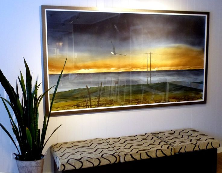 Original watercolor 210 x 113 cm by Stig-Ove SIvertsen at Galleri SOS.