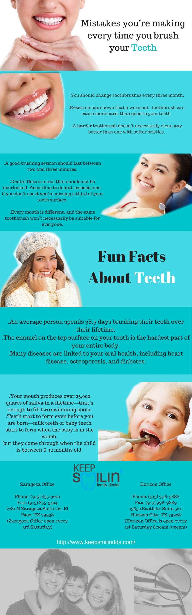 Keep Smilin' Family Dental offers EI Paso Dental Services at very affordable prices. Call us at (915) 855-3220 to schedule your appointment