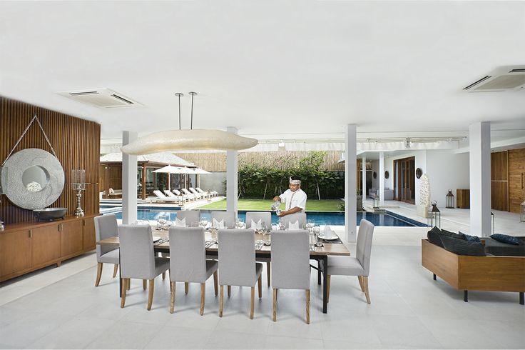 Dining Room Villa Cendrawasih http://prestigebalivillas.com/bali_villas/villa_cendrawasih/50/live_availability/