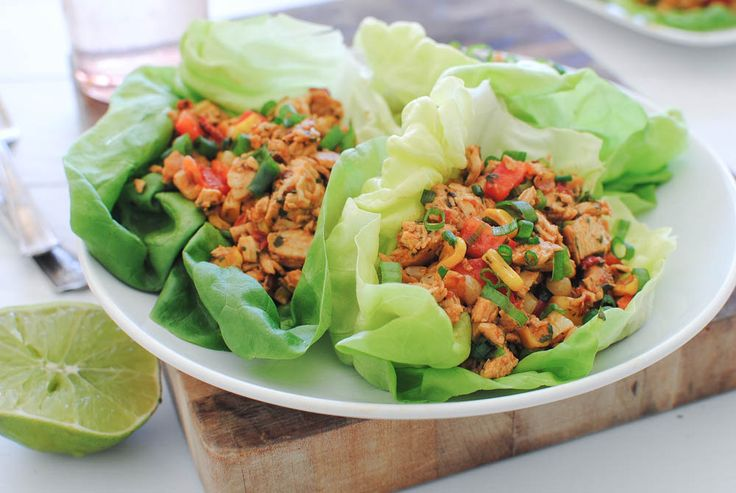 Chipotle Chicken Lettuce Wrap (gotta lose the corn to stay Whole30 compliant)