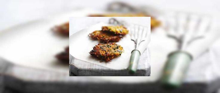 Carrot and coriander fritters recipe for a great lunchtime snack