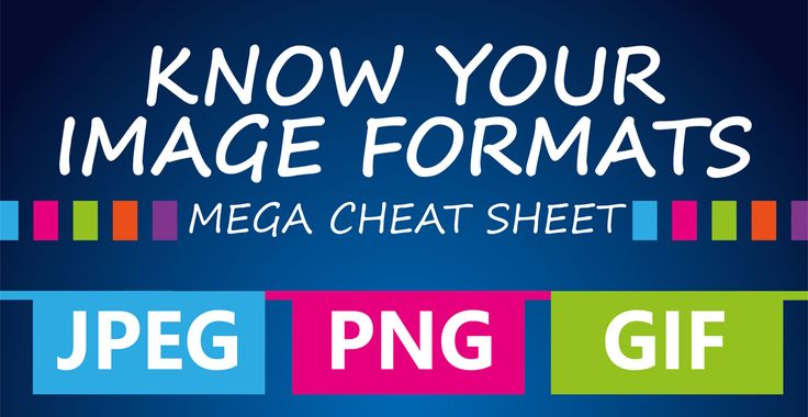 Know your image formats and when and where to use them with this really handy mega cheat sheet.