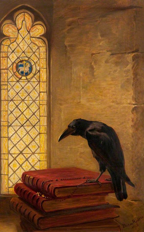 A Saint, from the 'Jackdaw of Rheims'  by Briton Riviere  Date painted: 1868  Oil on canvas, 51.2 x 32.3 cm  Collection: McLean Museum and Art Gallery – Inverclyde Council