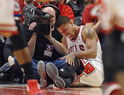 NBA: Derrick Rose To Miss 8-12 months  Chicago Bulls guard Derrick Rose will be out approximately eight to 12 months after undergoing surgery to repair his left ACL, said Dr. Brian Cole, who performed the surgery on Saturday.  keepinitrealsports.tumblr.com  keepinitrealsports.wordpress.com