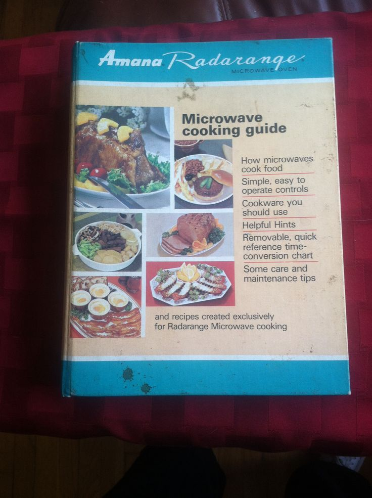 Amana Radarange cook book offers more instructions than recipes c1968.