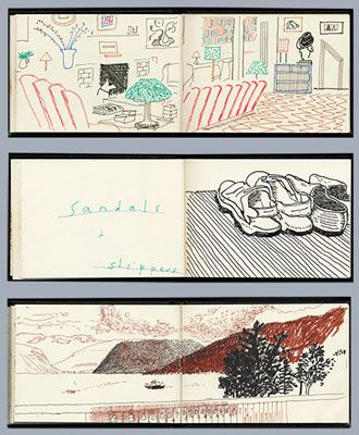 Credit: David Hockney Sketchbook