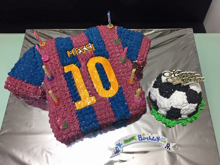 Birthday cake for my 10yrs old boy.His a big fan of Messi from Barcelona.