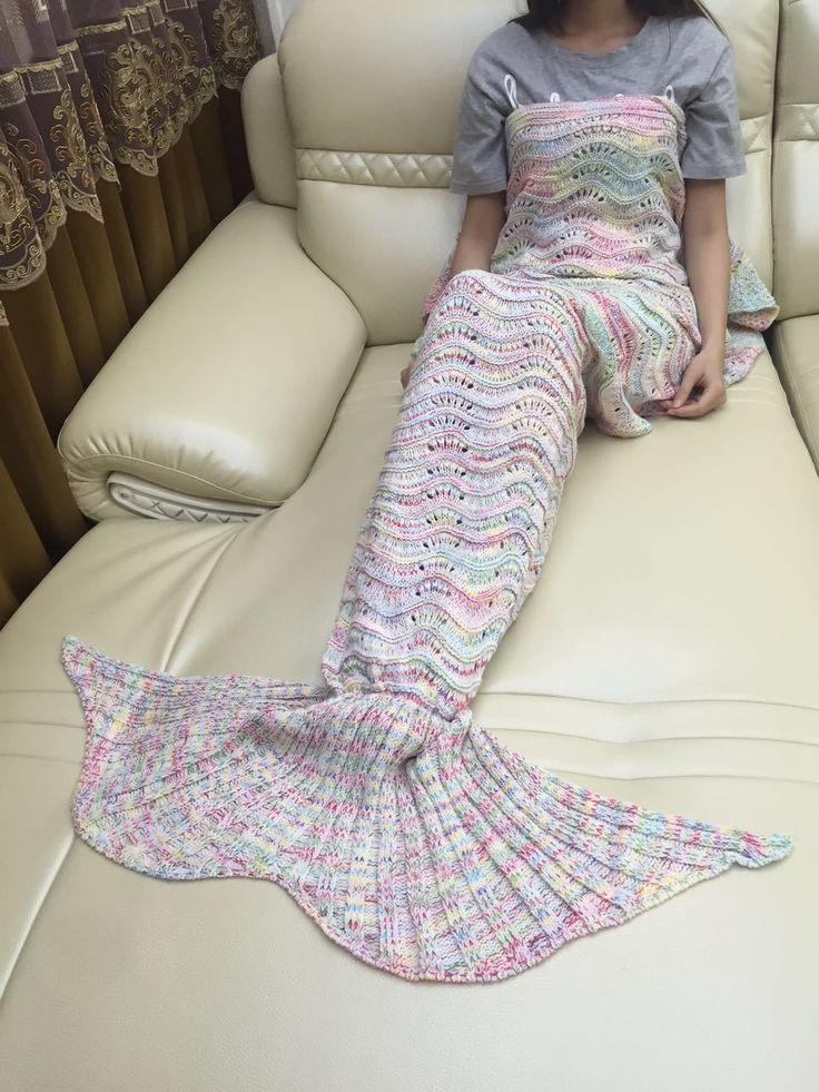 人魚型ルームウェア マーメイドブランケット 冷え性対策 寝巻き ナイトウェア マーメイド気分 ユニーク お姫様 人魚姫