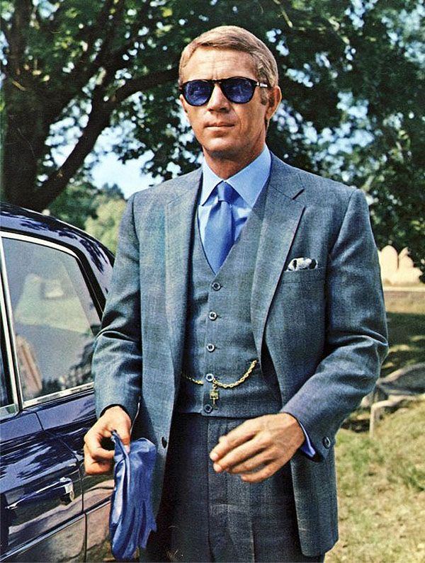 Style Icon: Steve McQueen Shades of blue