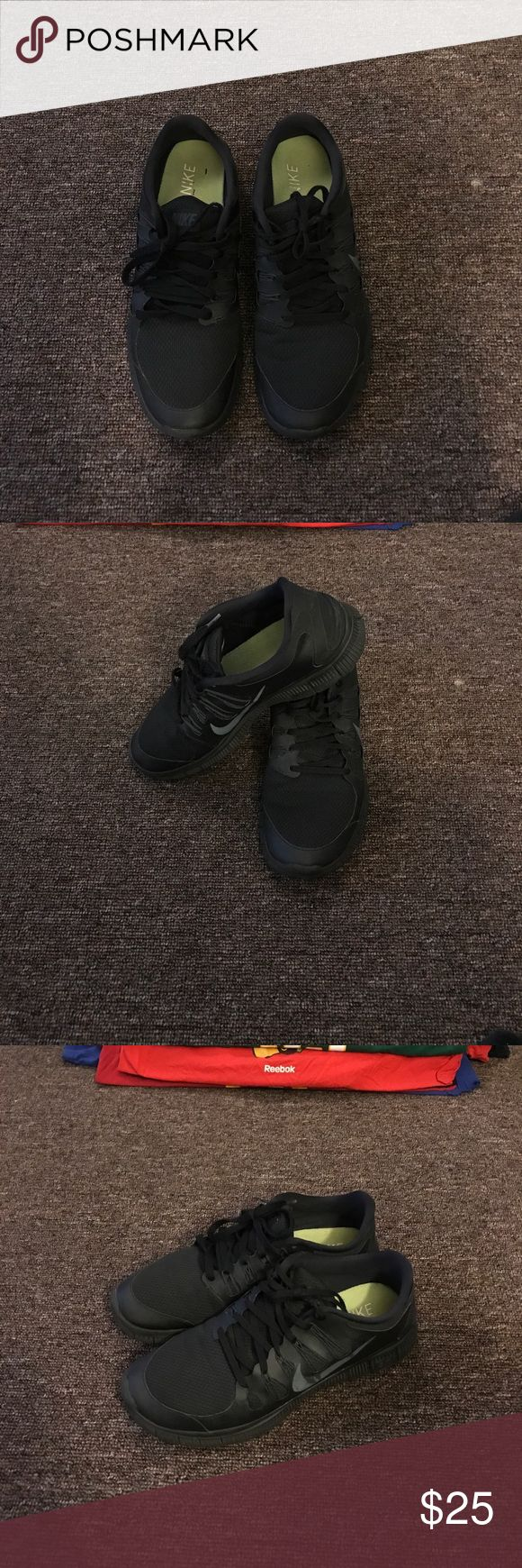 Size 13 ..... All black Nike Free Runs Black Nike free Runs..... Worn but in good condition Nike Shoes Sneakers
